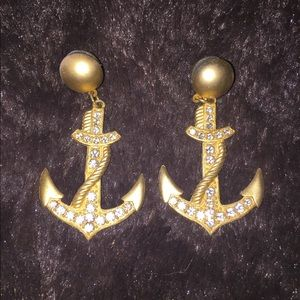 Jewelry - Nautical Anchor Earrings Retro from 80's!